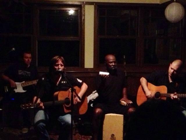 The acoustic set.