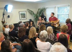 The BTB performing at Women Who Write Literary Salon.