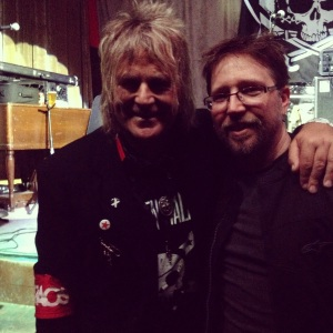 Mike Peters and I after an epic Dead Men Walking show at Brick and Mortar Music Hall in SF.